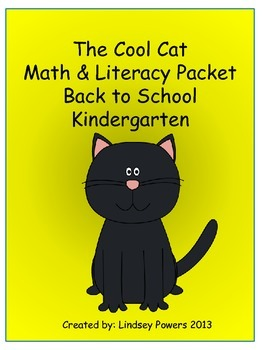 The Cool Cat Math & Literacy Activities for Back to School