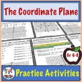 Coordinate Plane Activity Worksheets (Graphing/Identifying/Distance/Reflections)
