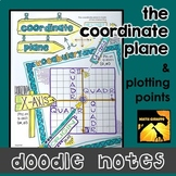 The Coordinate Plane Doodle Notes - Interactive Printables
