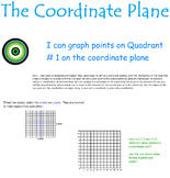 The Coordinate Plane Interactive Smart Board Lesson # 1