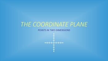 The Coordinate Plane: Points in Two Dimensions