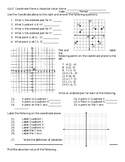The Coordinate Plane and Absolute Value Quiz