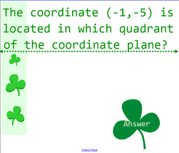 The Coordinate System Place Your Bet Review Game VA SOL 6.11 6.12