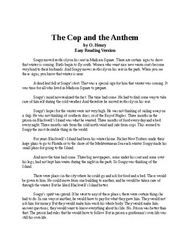 The Cop and the Anthem - O. Henry Short Story - Easy Reading Version with Quiz