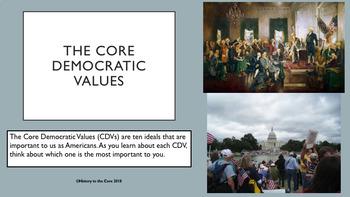The Core Democratic Values (CDVs): Middle School Style!