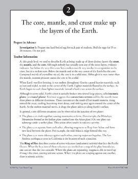 The Core, Mantle, & Crust Make Up the Layers of the Earth
