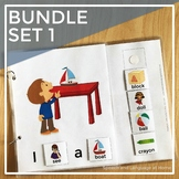 The AAC Core Vocabulary Words Interactive Book Bundle Set 1
