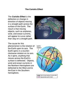 Coriolis Effect Teaching Resources | Teachers Pay Teachers