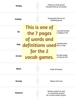 The Corn Raid Vocabulary Activities