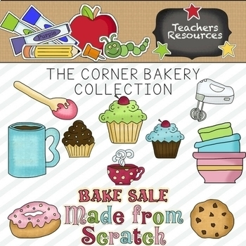The Corner Bakery Clipart Collection || Commercial Use Allowed