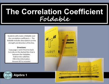 "The Correlation Coefficient, ""r"", Foldable"