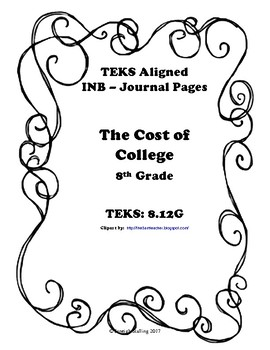 The Cost of College INB TEKS 8.12G