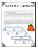 The Cost of Halloween ~Informational Text and Cause and Effect Organizer