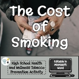 The Cost of Smoking Worksheet - Editable in Microsoft Word