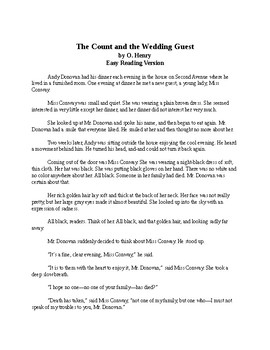 The Count and the Wedding Guest - Easy Reading O. Henry Story with Quiz