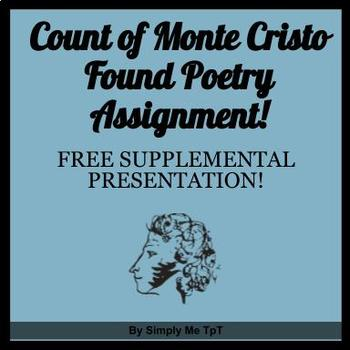 The Count of Monte Cristo Found Poetry Activity PowerPoint