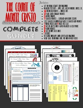 The Count of Monte Cristo Interactive Notebook - 500+ FOLDABLES AND PIECES!