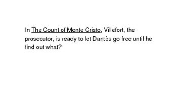 The Count of Monte Cristo by Alexandre Dumas (flash cards)