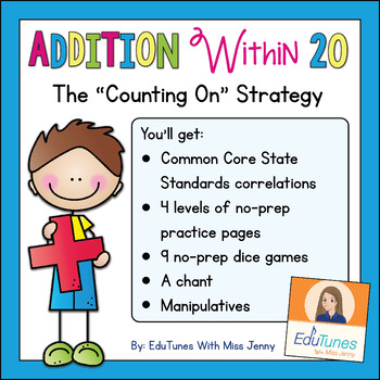 """Addition Within 20: The """"Counting On"""" Strategy"""