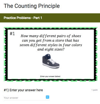The Counting Principle - Google Form & Video Lesson!