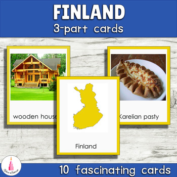 The Nordic countries Montessori 3-part Cards Bundle