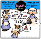 The Country Maid And Her Milk Pail (Aesop's Fable) Clip Art {Educlips Clipart}