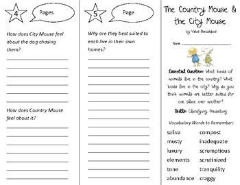 The Country Mouse & The City Mouse Trifold - Open Court 3rd Gr Unit 4 Lesson 1