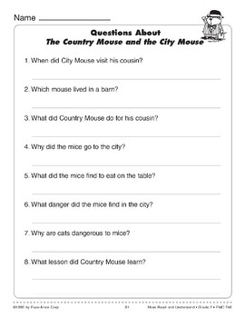 The Country Mouse and the City Mouse