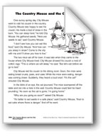 The Country Mouse and the City Mouse/El ratón de campo y e