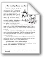 The Country Mouse and the City Mouse/El ratón de campo y el ratón de ciudad