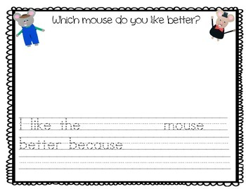 The Country and City Mouse Writing