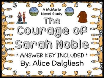 The Courage of Sarah Noble (Alice Dalgliesh) Novel Study /