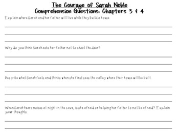 The Courage of Sarah Noble by Alice Dalgliesh: A Complete Novel Study!