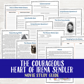 The Courageous Heart of Irena Sendler Movie Study Guide