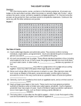 The Court System, AMERICAN GOVERNMENT LESSON 60 of 105, Activity+Quiz