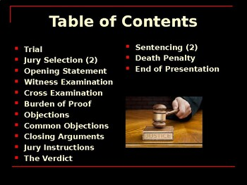 The United States Court System - The Trial Phase