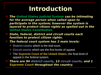 The United States Court System - Introduction