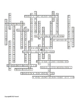 The Courts Crossword for American Government