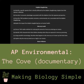 The Cove Documentary (AP Environmental FRQ based)