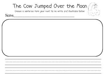 The Cow Jumped Over the Moon Sentence Reading Kit