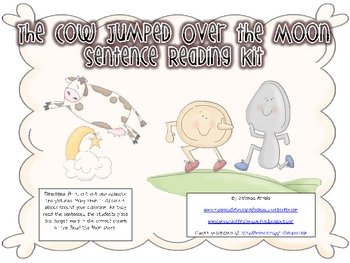 The Cow Jumped Over the Moon Sentence and Word Combo Kit