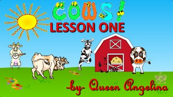 The Cow Song (complete with learning lesson and quiz)