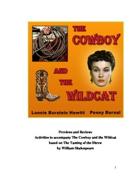 The Cowboy and the Wildcat: Previews and Reviews--Activities for the play