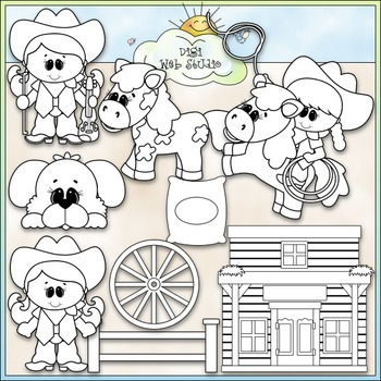 The Cowgirl Way 1 - Commercial Use Clip Art & Black & White Images