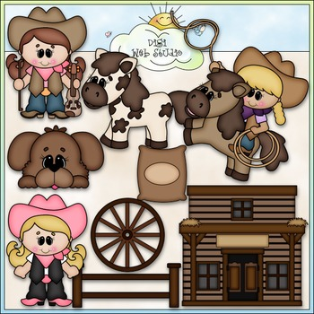 The Cowgirl Way 1 - Commercial Use Clip Art & Black & Whit