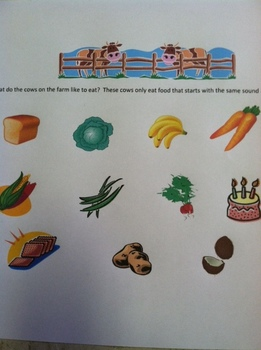 The Cows on the Farm Phonological Awareness Song and Assessment