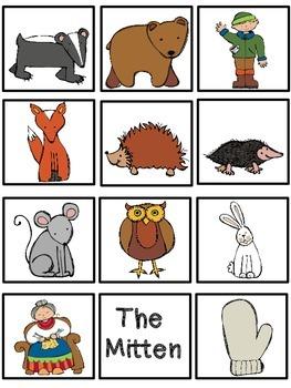 The Mitten {Reading / Language Arts/ Math / Emergent Readers} Kindergarten
