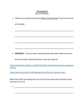 The Crane Girl - Guided Reading
