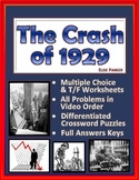 The Crash of 1929 Worksheets, Tests, and Puzzle Pages