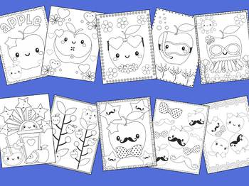 Cute Apples - The Crayon Crowd Coloring Pages, Apple, Johnny Appleseed